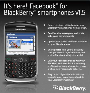 Facebook for BlackBerry 1 5 Now Downloadable - New Features