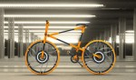 Folding Bike Where Even the Wheels Fold Away – Possible Fail?