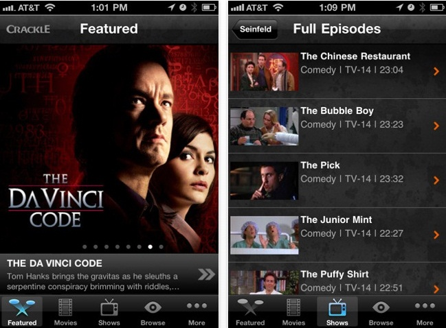 Sony Hands iPhone and iPad FREE Streaming TV and Movies