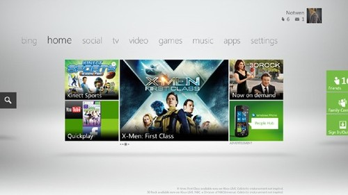 new xbox dashboard