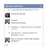Facebook Listen with Friends Chat
