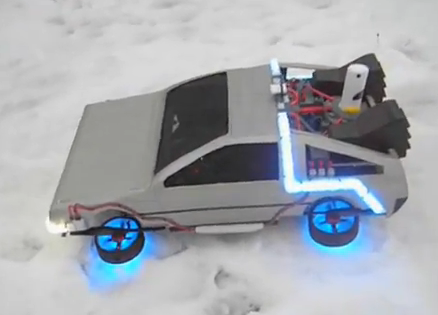 Back to the Future Flying DeLorean – The Coolest Quadrotor [video]