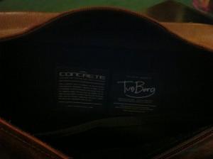 Concrete laptop case interior