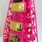 Pink Scarab 3D Printed Guitar