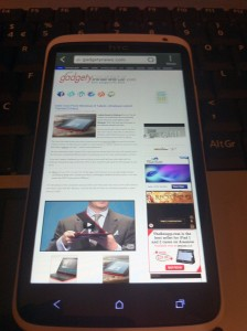 HTC One X GadgetyNews Website