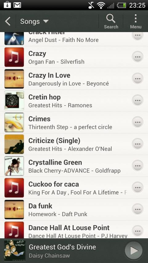 HTC One X Music