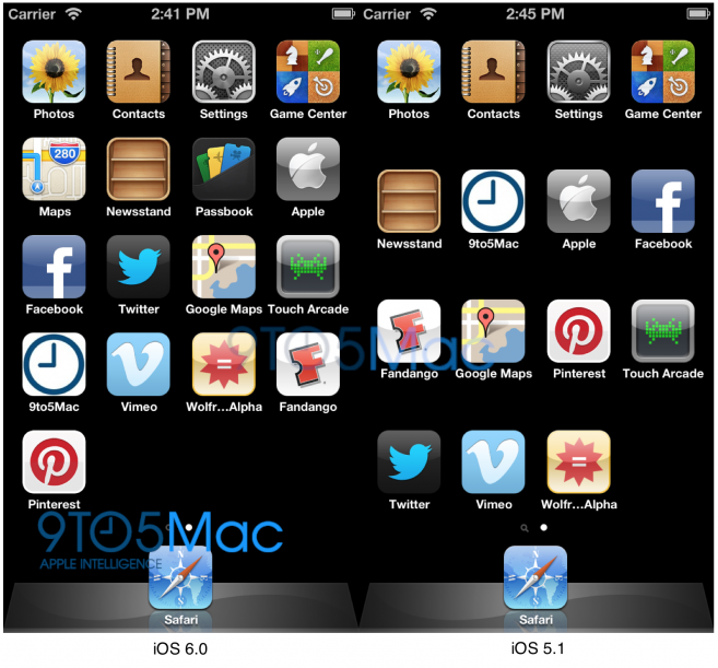 Ios 6 reveals apple 39 s 9 pin dock plans and iphone 5 home for Home building apps for iphone