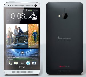 htc one front and rear