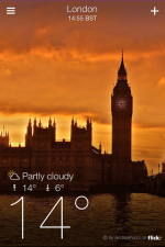 Yahoo weather is as beautiful as it is simple