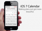 Apple iOS 7 redesigning calendar and email apps