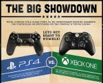 Battle of the next gen consoles – PS4 v Xbox One infographic