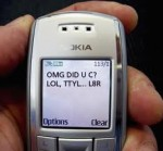 OMG! There's been a drop in text messages! LOL