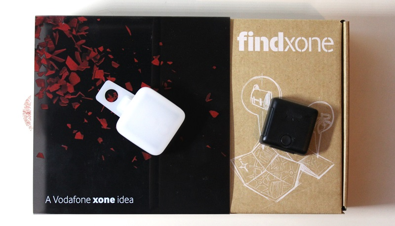 Vodafone Findxone tracker packaging