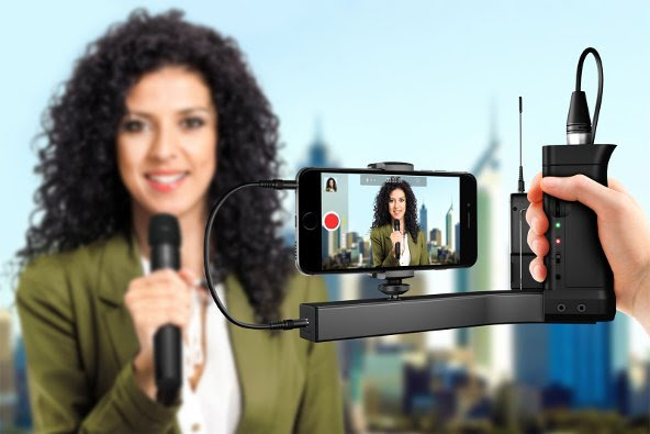 iKlip A/V – broadcast quality audio and video phone mount