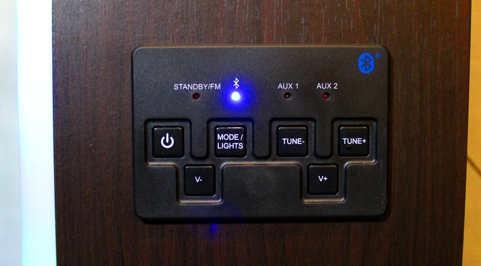 intempo bluetooth jukebox control panel