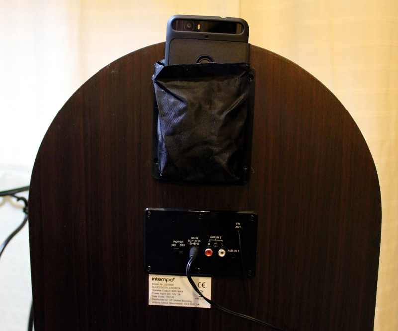 intempo bluetooth jukebox phone pocket and inputs