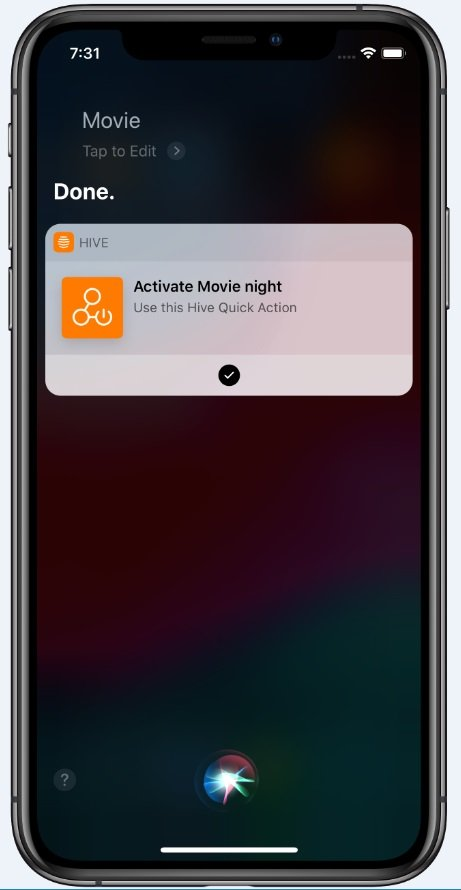 Siri Hive Quick Actions